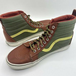 Vans High Top Off The Wall Maroon Green Yellow Can
